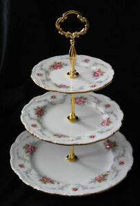 ROYAL ALBERT 3 TIER CAKE STAND  - TRANQUILITY