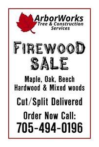 Firewood Hardwood $90/cord