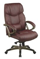 Brown genuine leather office chair