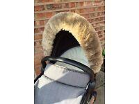 Universal Pram Hood Fur