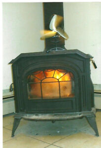 Device burns Wood Pellets in your stove or fireplace