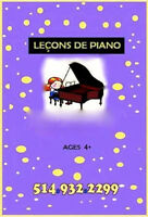 PIANO LESSONS $18 each if started March 31st - April 11th, 2016
