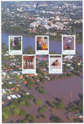 Australia-Flood Relief sheet-gummed-limited print -2011 mnh