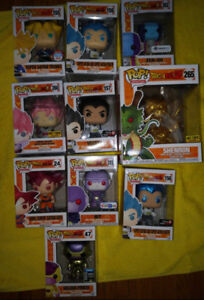 Dragon ball  z and super exclusive funko pop figures