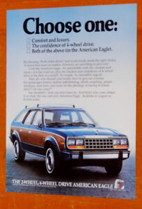 COOL 1984 AMC EAGLE 4X4 STATION WAGON AD - ANONCE VINTAGE 80S