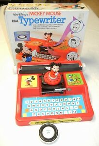 MICKEY MOUSE TYPEWRITER - WITH BOX - 1975 Windsor Region Ontario image 1