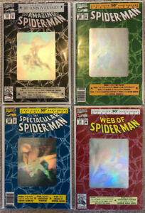 Spiderman Lot of 4 Giant-Sized 30th Anniversary Comics