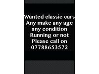 Wanted classic cars