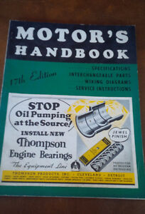 Motor's Handbook, 17th Edition, Thompson Products, 1940