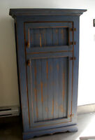 Antique Look Blue Stained Storage Cabinet