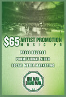 $65 ONLINE PROMO Services - (Musicians, Rappers, DJs, Promoters)