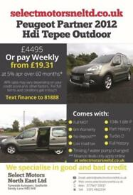 2012 Peugeot Partner Hdi Tepee Outdoor Finance Available 1.6