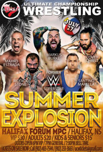 TICKETS FOR UCW SUMMER EXPLOSION JULY 27 @ HFX FORUM