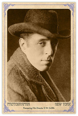 D.W.GRIFFITH Cinema Pioneer Vintage Photograph A++ Reprint Cabinet Card CDV