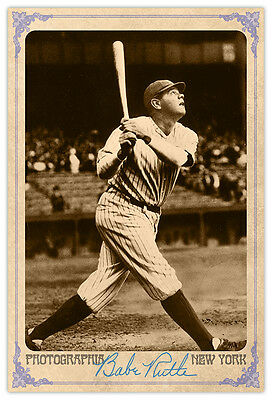 BABE RUTH Baseball Legend Vintage Photograph Autograph Cabinet Card A++  for sale  New York