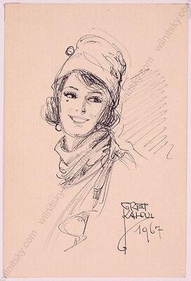 "Gret Kalous-Scheffer (1892-1975) ""Postcard Designs"", Ten Drawings, 1960s"