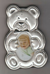 silver plated teddy bear picture frame West Island Greater Montréal image 1