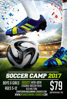 Soccer Camp 2017 for ages 5 to 12 years old