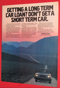 COOL 1982 VOLVO 240 RETRO CAR AD - BELLE ANONCE VINTAGE 80S