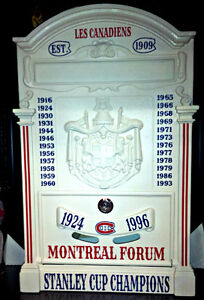 VINTAGE STYLE CUSTOM MADE ITALY MONTREAL CANADIEN STEEL MAILBOX