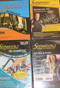 LOT of 4 New SPINERVALS DVD'S spinning indoor training cycling