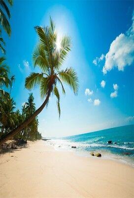 Beach Themed Photo Backdrops (Seaside Beach Sea Theme 5x7ft Vinyl Photography Background Studio Photo)