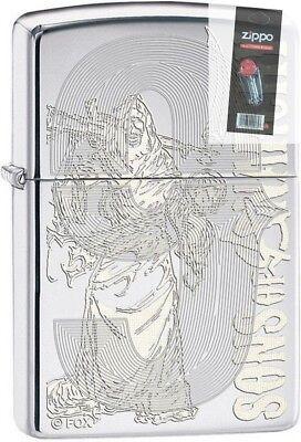 Zippo 28957 Soa Samcro Sons Of Anarchy Chrome Lighter   Flint Pack