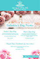 FEBRUARY VALENTINE'S DAY Spa treatments  PROMOTIONS