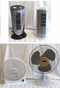 Heat Busters! 2 Clean Table Fans (TEXT/CALL Pls)