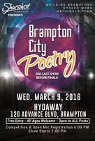 Brampton City Poetry, 2nd Last Show to Finals