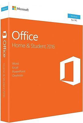 Microsoft Office 2016 Home and Student Windows English 1 User Key Card