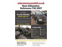 2007 Seat Alhambra Reference Tdi 112k Miles 2