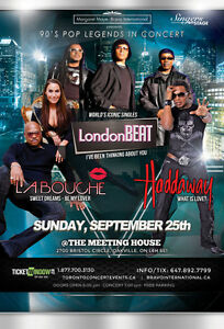 90's Legends in Concert : Haddaway, LondonBeat and Labouche
