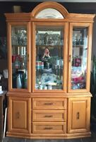 China cabinet with light