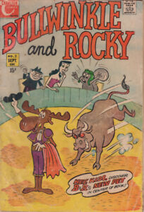 Very Rare Bullwinkle and Rocky No.2 Vintage Collectible Comic