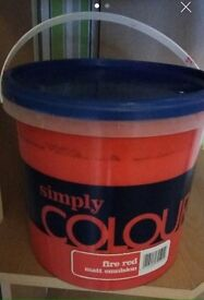 5 Litre Tin Of Red Paint