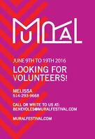 Le festival MURAL 2016 à besoin de vous! Soyez bénévoles!