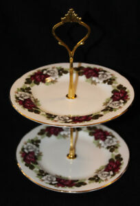 ROYAL IMPERIAL SMALL 2 TIER CAKE STAND