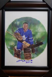 Rare Canada post NHL signed 11×14 Hockey hall of fame picture