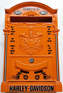 VINTAGE CUSTOM DESIGNED MADE IN ITALY HARLEY DAVIDSON MAILBOX