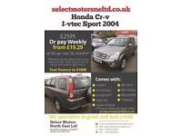 2004 Honda Cr-v I-vtec Sport 7 Service Stamps Low Miles 2