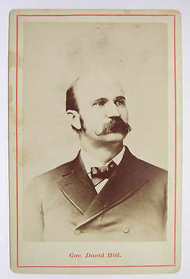 Cabinet Card  David Hill Governor New York 1880s Photograph Portrait
