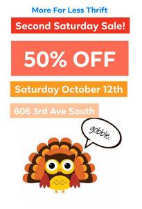 Second Saturday Sale at MFL thrift