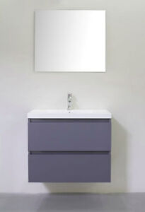 """30""""  modern  sleek  wall  hung  vanity  with  sink  and  cabinet"""
