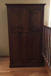 Antique Solid Wood Cabinet/ Armoire