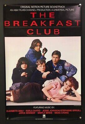 The Breakfast Club Original Soundtrack poster 1985 Ringwald  *Hollywood -