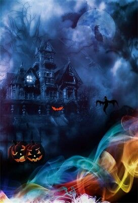 5x7ft Halloween Theme Studio Vinyl Backdrops Ghost Castle Photography Background](Desktop Backgrounds Halloween Theme)