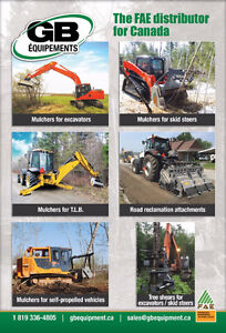 Forestry mulchers / Stone crushers / Road reclamation attachment