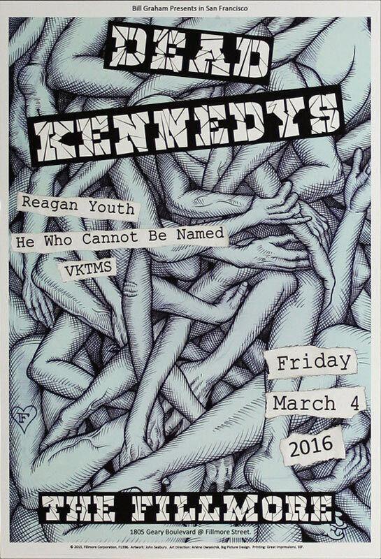 Dead Kennedys Reagan Youth Fillmore SF 3/4/2016 Poster John Seabury F1396 Punk