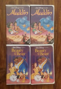 "4 - vhs - ""BLACK DIAMOND"" versionAladdin - Beauty & the BeastP"